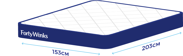 Bed size guide help faqs forty winks Queen mattress sizes