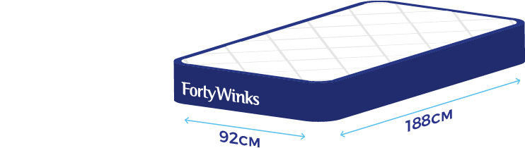 Bed Size Guide | Help & FAQs | Forty Winks