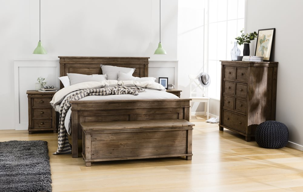 Settler Bed Frame Sun Dried Ash Bedroom Furniture Forty Winks - Settler bedroom furniture