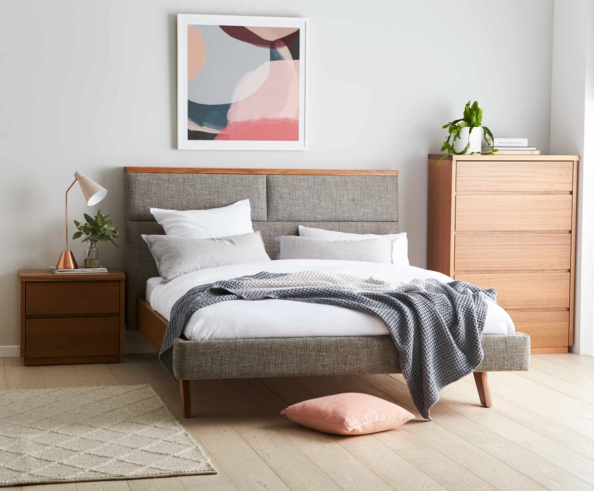 Amelie Upholstered Bed Frame Nutmeg