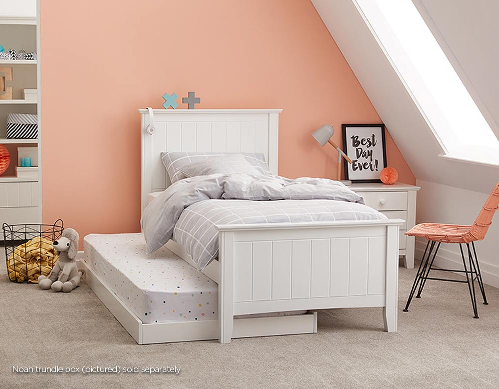 Noah Bed Frame White Bedroom Furniture Forty Winks