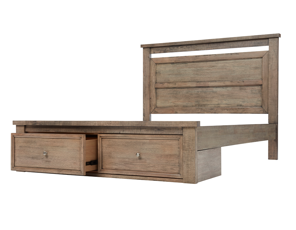 OLIVIA KB BED W/DRAWERS (Oak) image 1