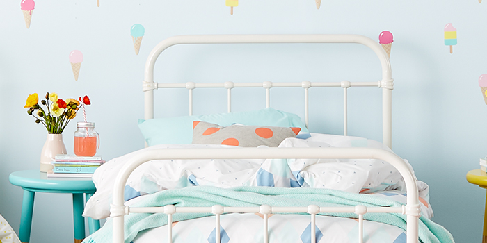 Popsicle Bed Frame Yellow, White or Teal | Bedroom furniture | Forty ...