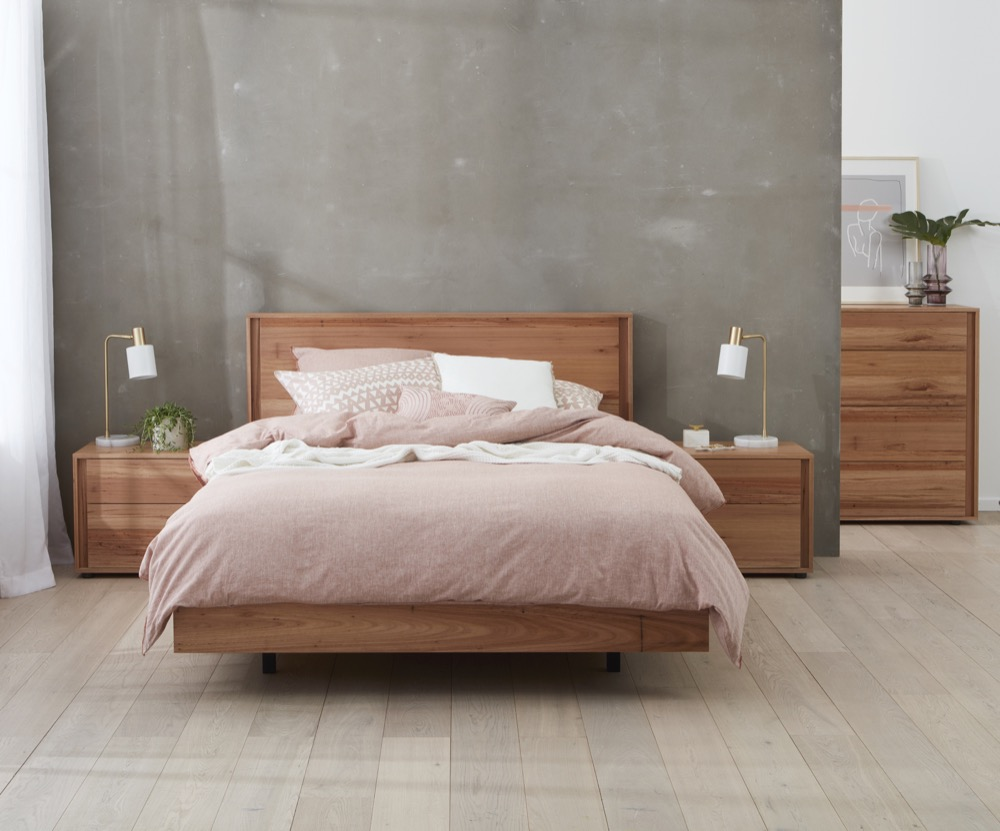 gap x timber bed frame front