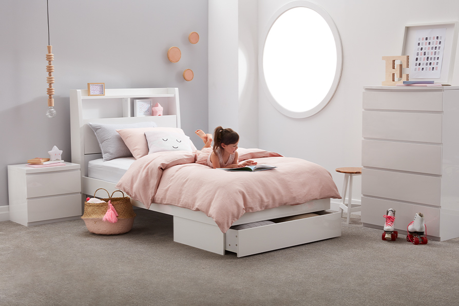 ELLIPSE SB BED W/END DRAWER ONLY image 1