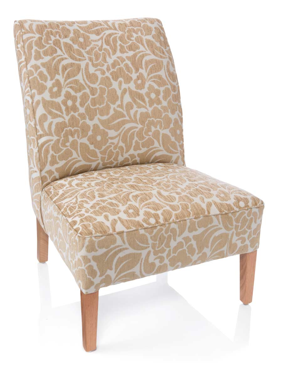 ACCENT FULLY UPHOLSTERED ACCENT CHAIR (Natural, Zepel fabric) image 1