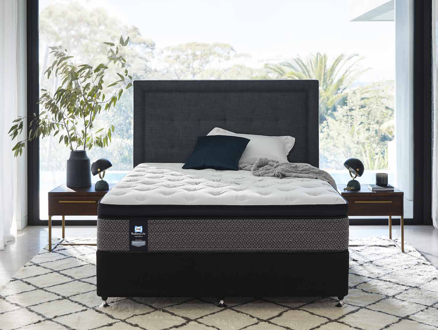 Sealy Posturepedic Peformance Base Charcoal Beds