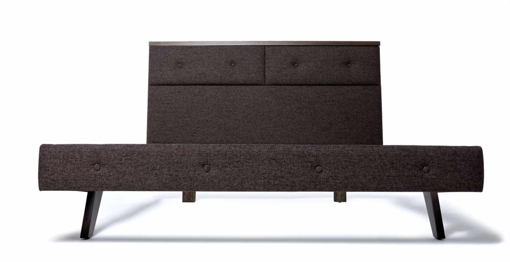 Amelie Upholstered Bed Frame Smoke