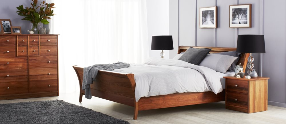 Chilton Bed Frame, Natural | Tuggl