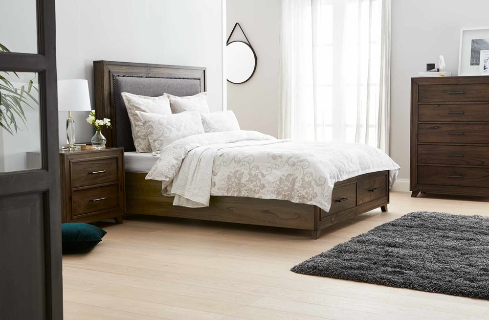 a1e0a4eb15a6 Oregon Bed Frame W/Drawers Grey Oak | Bedroom furniture | Forty Winks