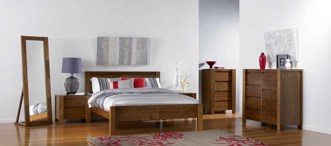 Tenterfield Bed Frame Aged Wheat Bedroom Furniture