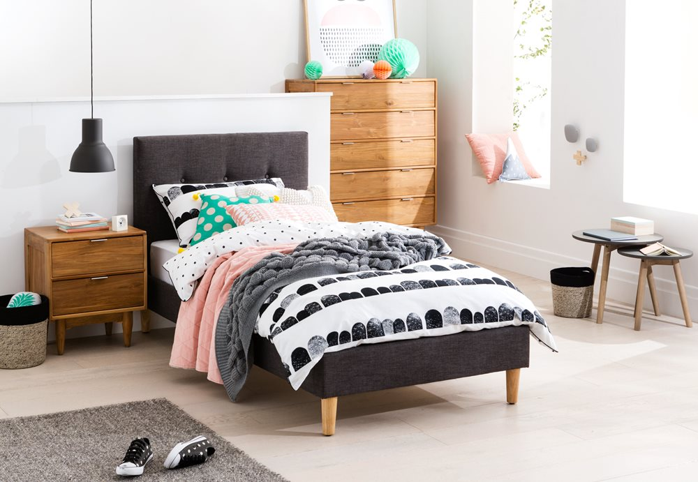 JASPER SB BED (Dark Grey) image 1
