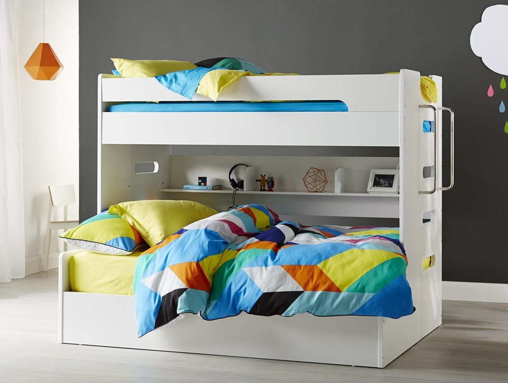VENUS SB/DB BUNK W/ GAS LIFT (White)  image 2