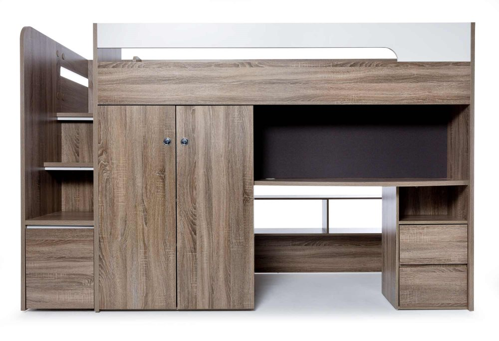 QUANTUM KSB LOFT BED W/STAIR DRAWER & DESK  image 4