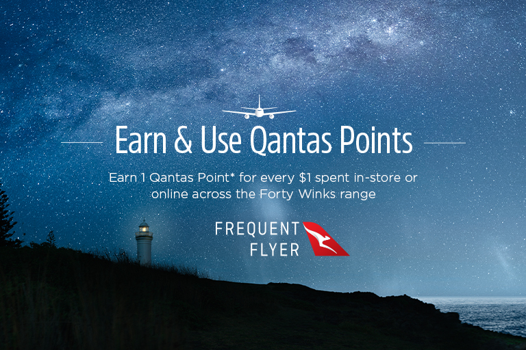 Earn & Use Qantas Points with Forty Winks