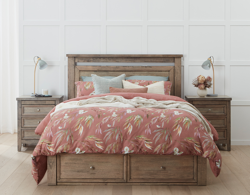OLIVIA KB BED W/DRAWERS (Oak)  image 4