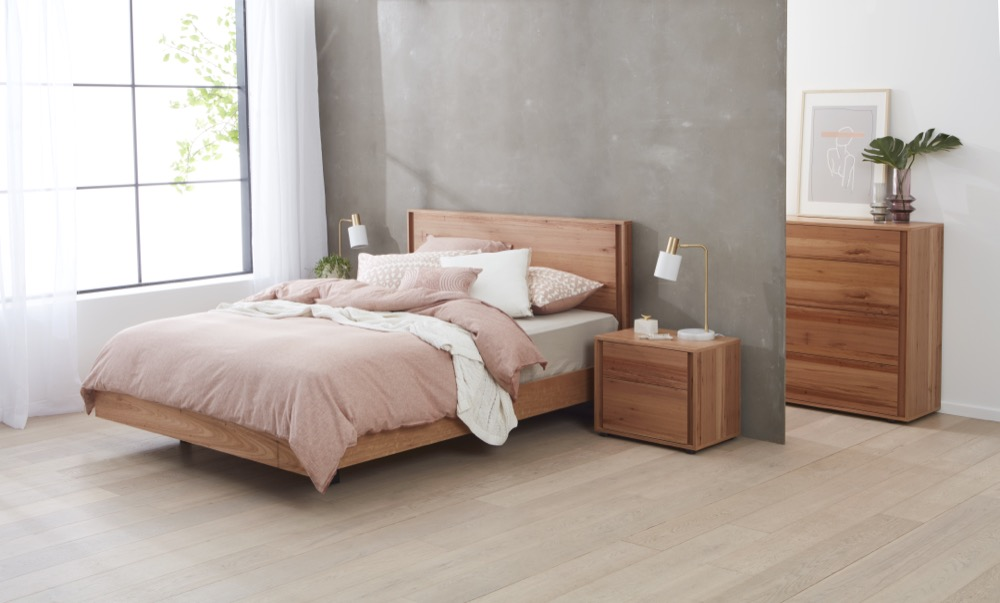 gap x timber bed frame angle