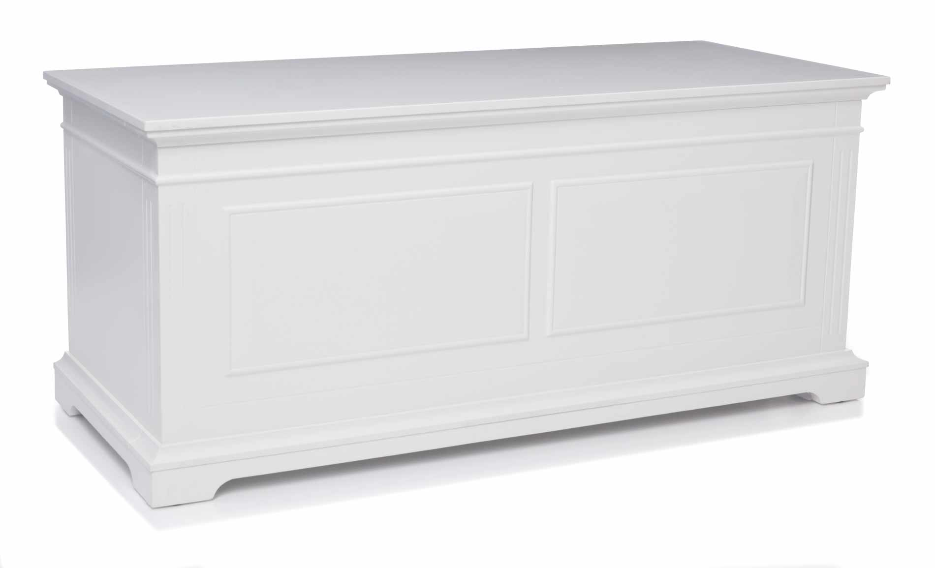 Brinkley Blanket Box Matte White Bedroom Furniture