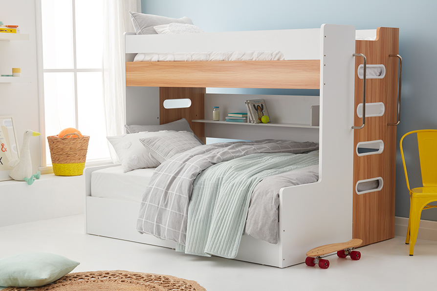 VENUS SB/DB BUNK W/ GAS LIFT (Oak & White)  image 5