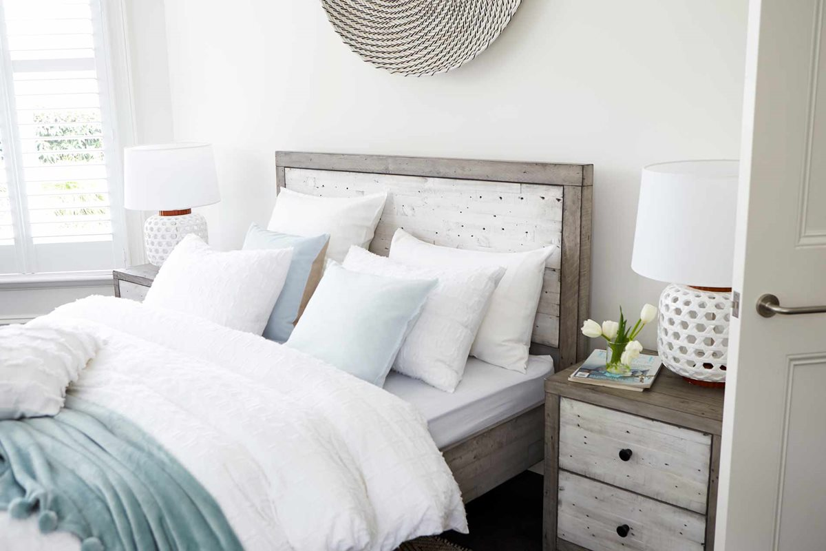 Bay Bed Frame Rustic White Bedroom Furniture Forty Winks