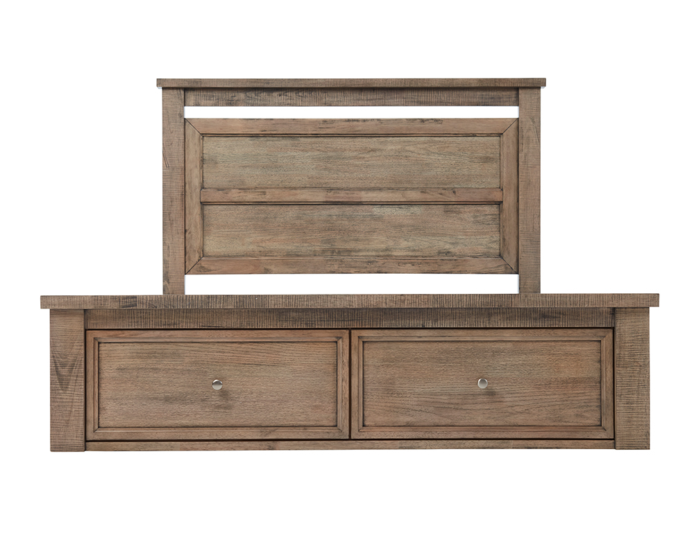 OLIVIA KB BED W/DRAWERS (Oak)  image 2