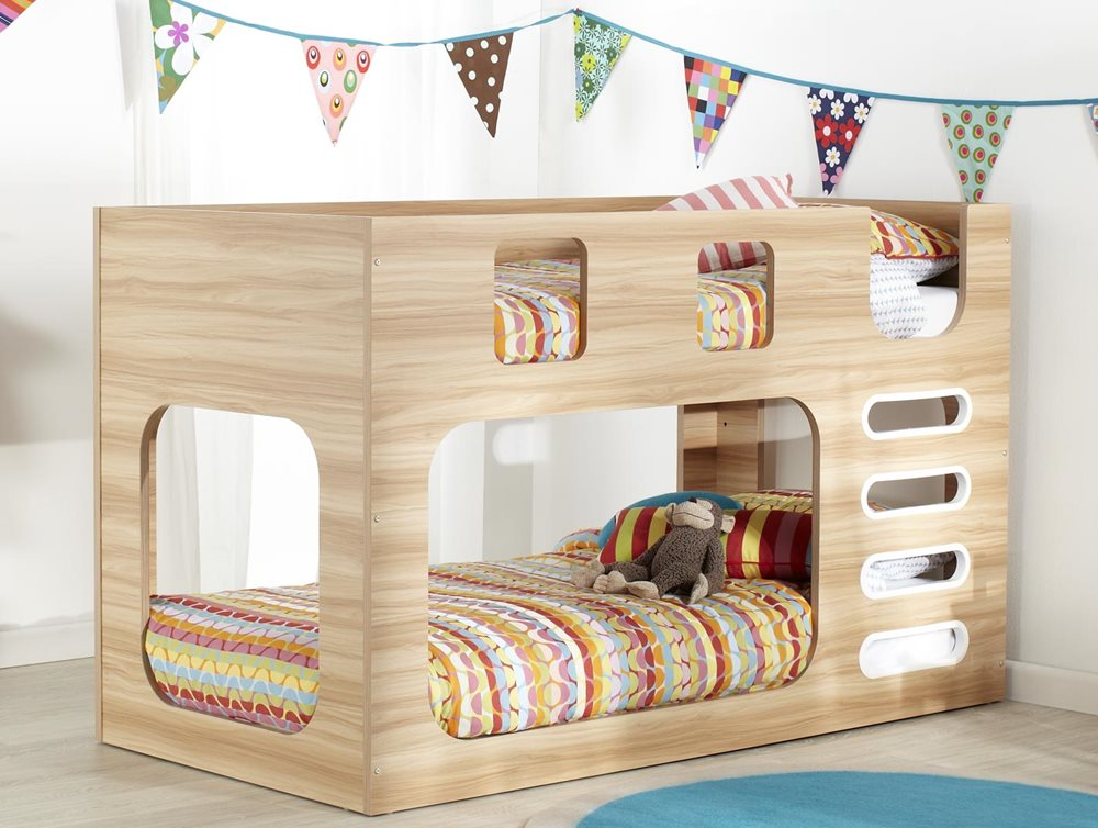 Saturn Bunk Natural White Bedroom Furniture Forty Winks