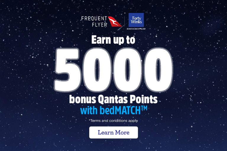 Earn and use Qantas Points with Forty Winks
