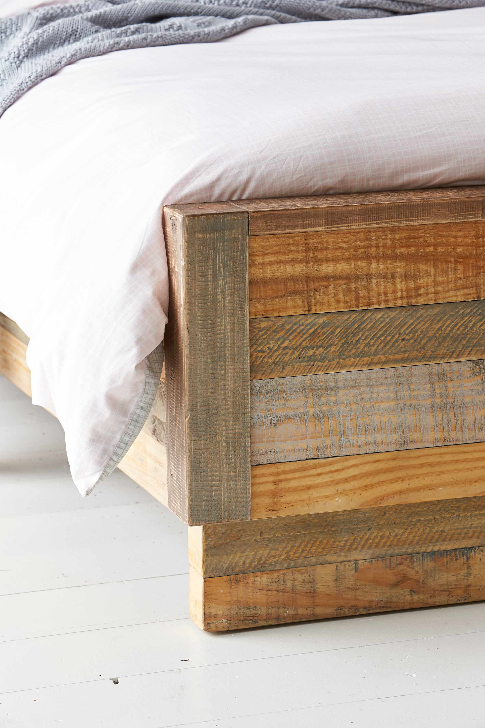 Block Bed Frame Rustic Ochre Bedroom Furniture Forty Winks