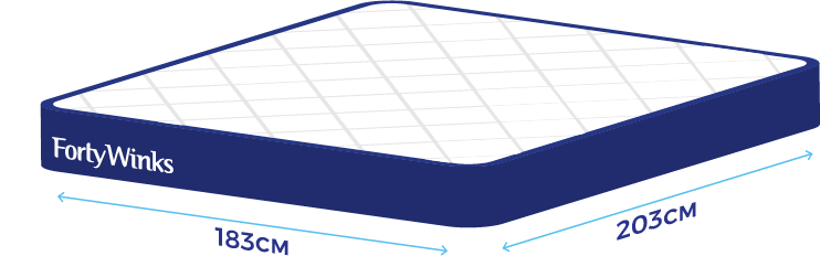 Bed Size Guide Help Faqs Forty Winks